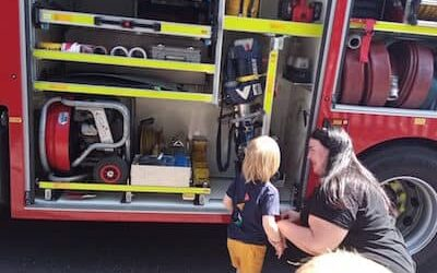 Fire Engine Comes To Visit